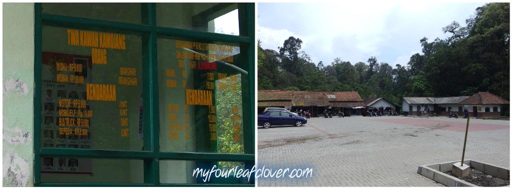 HTM dan tempat parkir Kawah Kamojang