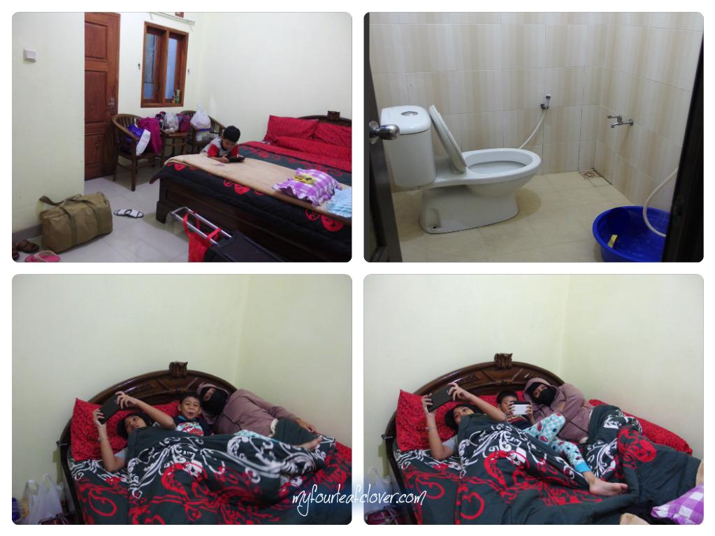 Kamar di Homestay Nusa Indah
